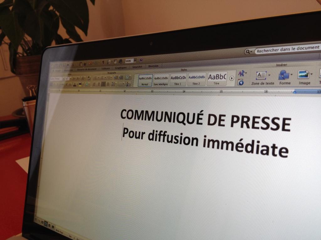 Le communiqué de presse est-il mort? Logo