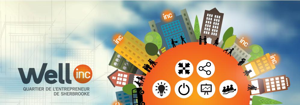 Well Inc : un projet de collaboration et de réseautage : effet wow! Logo